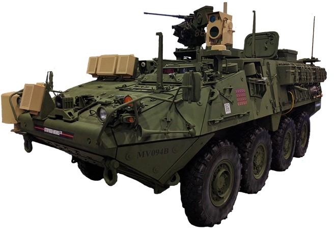 MEHEL is a laser testbed on a Stryker armored fighting vehicle chassis and serves as a platform for research and development. MEHEL 2.0 is an improved version of the original MEHEL with a laser upgraded from 2 kW to 5 kW (Photo Credit: U.S. Army photo)