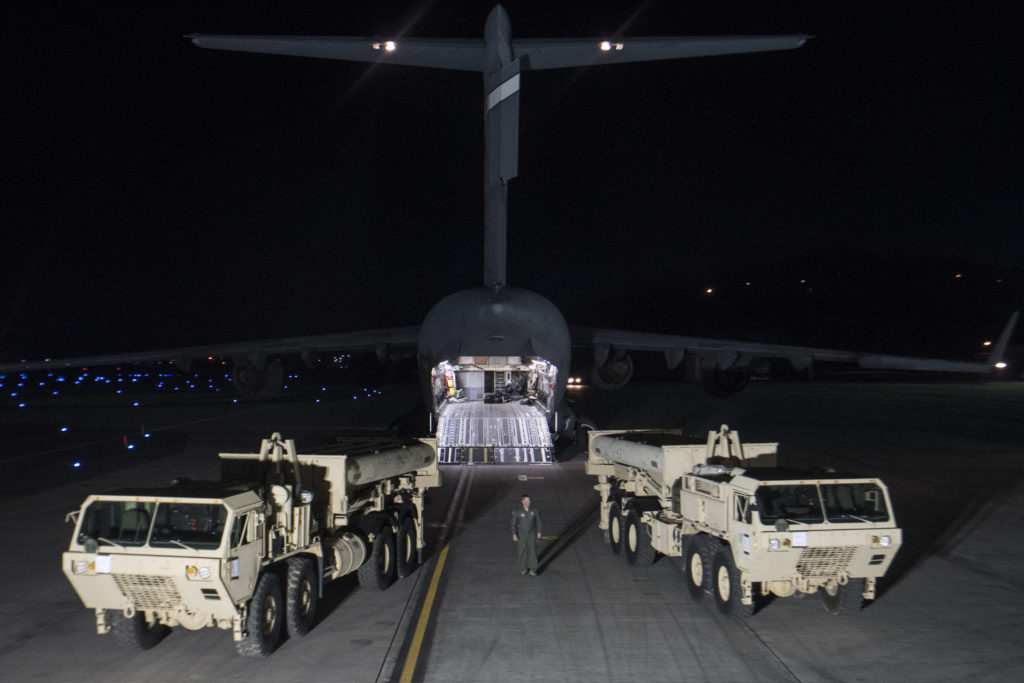 U.S. Alliance decision to install a Terminal High Altitude Area Defense on the Korean Peninsula as the first elements of the THAAD system arrived in the ROK