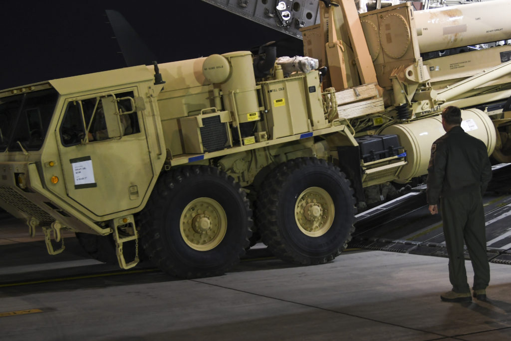 THAAD arrives on the Korean Peninsula
