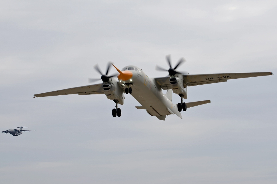 ANTONOV AN-132 makes first flight