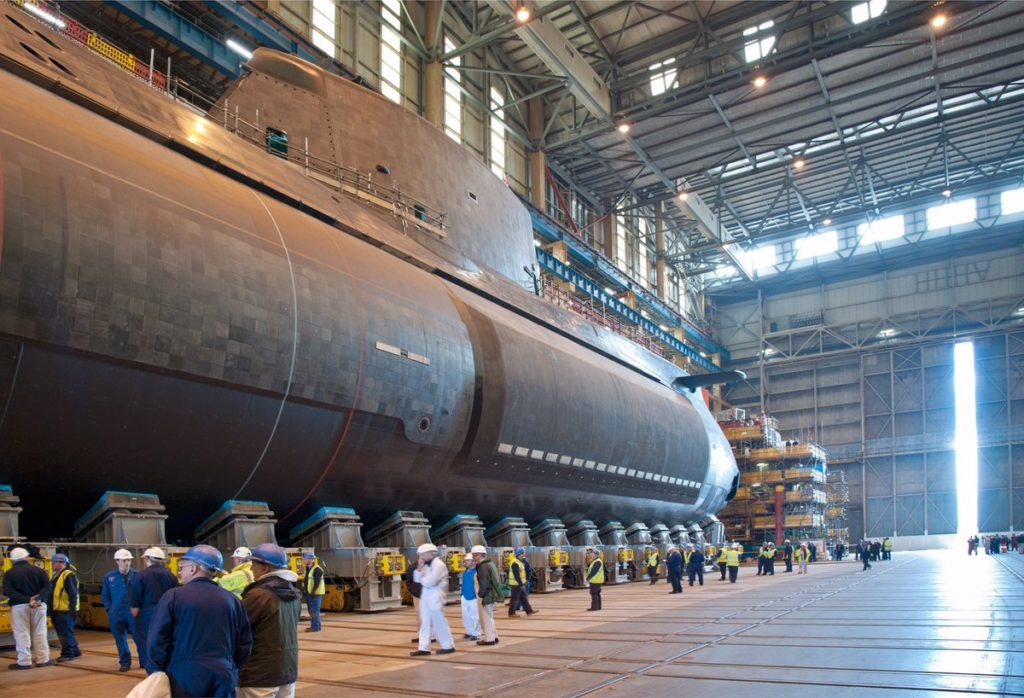BAE Systems launches HMS Audacious (S122) – the fourth state-of-the-art Astute submarine