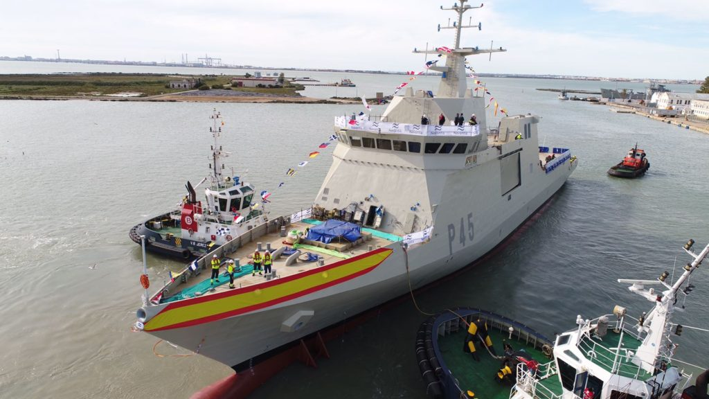 Navantia Launches the Maritime Action Ship «Audaz» (P-45) for the Spanish Navy