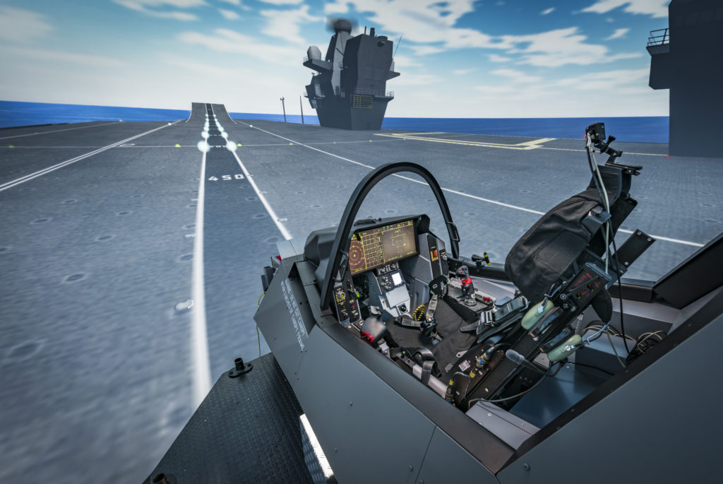Pilots begin flights in new F-35 Lightning II simulator in preparation for trials on carrier