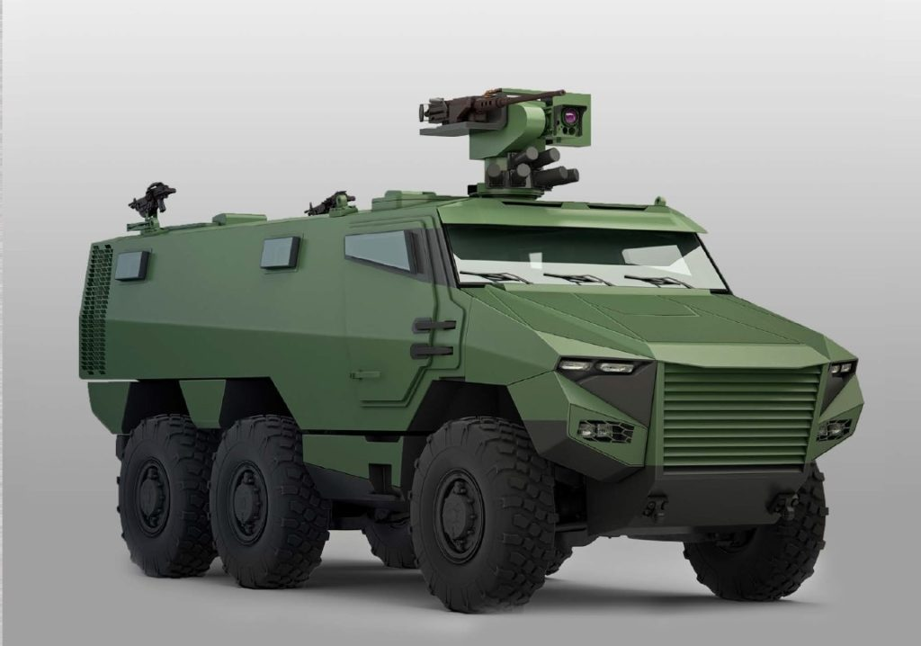 The second of the French army's new armored vehicles, the Griffon, is a 6×6 armored personnel carrier intended to replace the VABs now in service (FR army image)