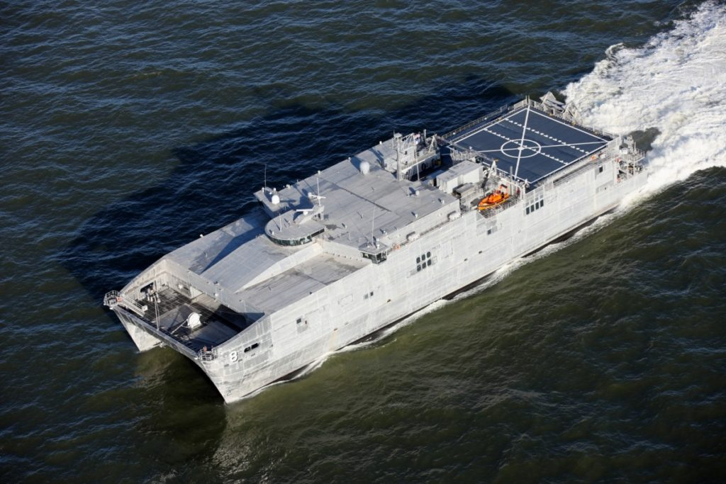 USNS Yuma (EPF-8) has been delivered to the U.S. Navy following a ceremony held at Austal USA's Mobile Alabama shipyard (Image: Austal)