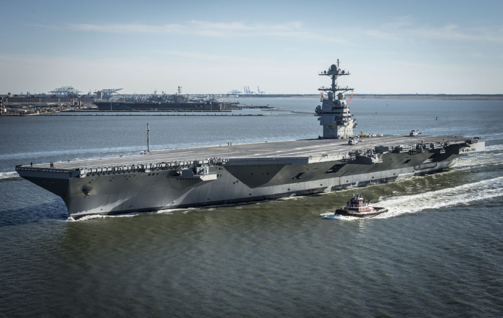 Future USS Gerald R. Ford underway for Builder's Sea Trials (BST)