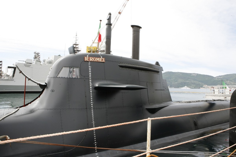 The «Romeo Romei» (S529) is the fourth and final boat of the second batch of Type U212A submarines built by Fincantieri for the Italian navy (Fincantieri photo)