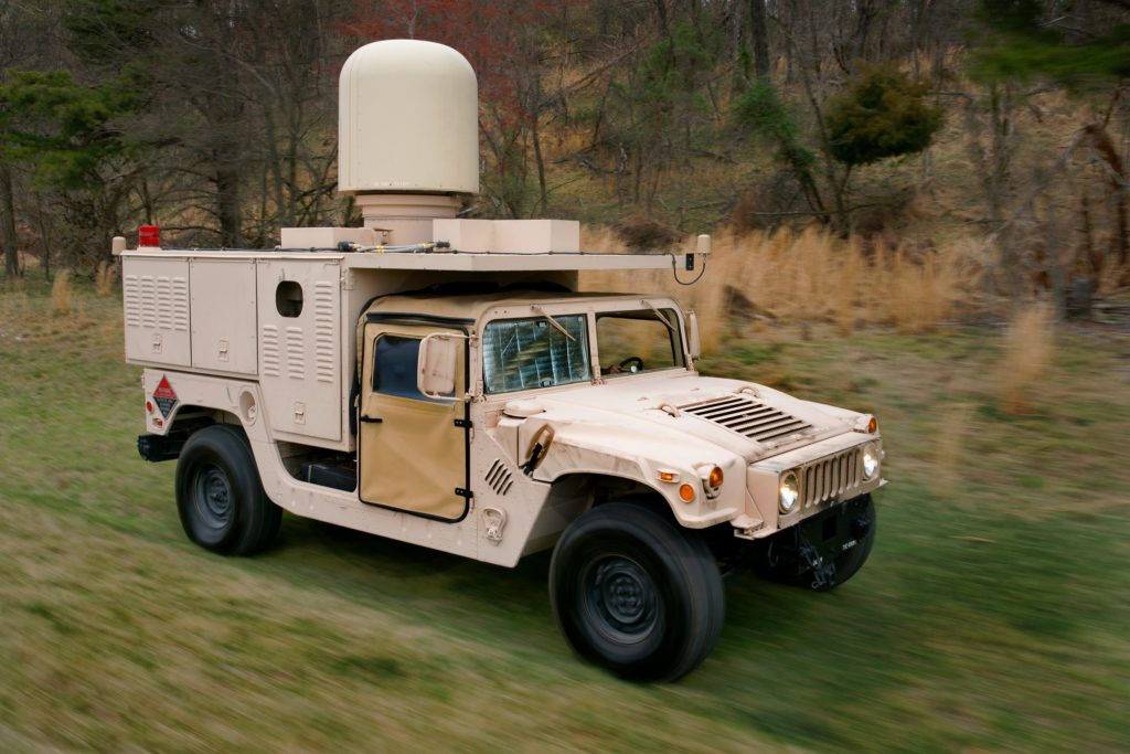 HAMMR incorporates an Active Electronically Scanned Array fighter radar mounted on a ground vehicle or towable trailer to provide continuous 360-degree protection against multiple ground and airborne targets – all while operating on-the-move so soldiers on the ground can maintain their operational pace without sacrificing protection