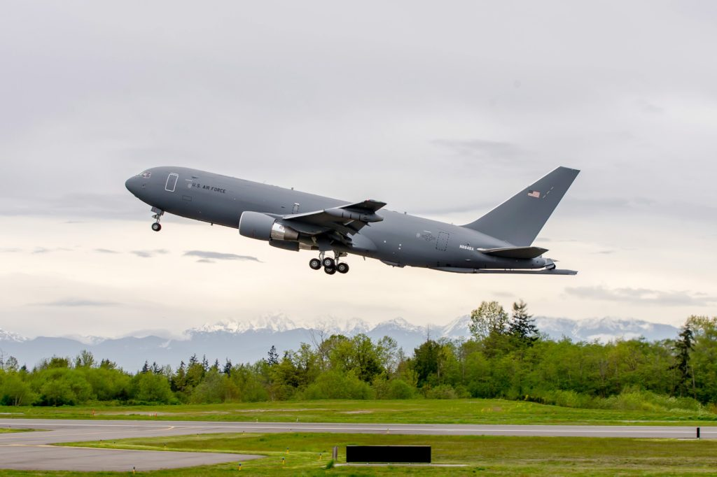 Newest aircraft is third for testing in full KC-46 Pegasus configuration