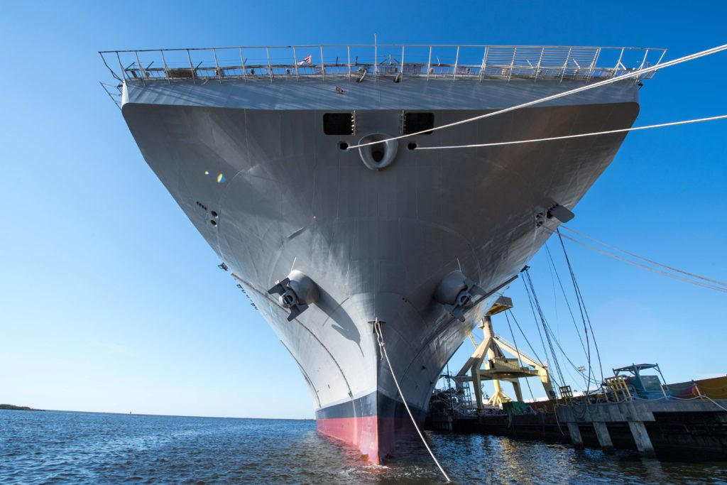 Huntington Ingalls Industries Launches Amphibious Assault Ship USS Tripoli (LHA-7)