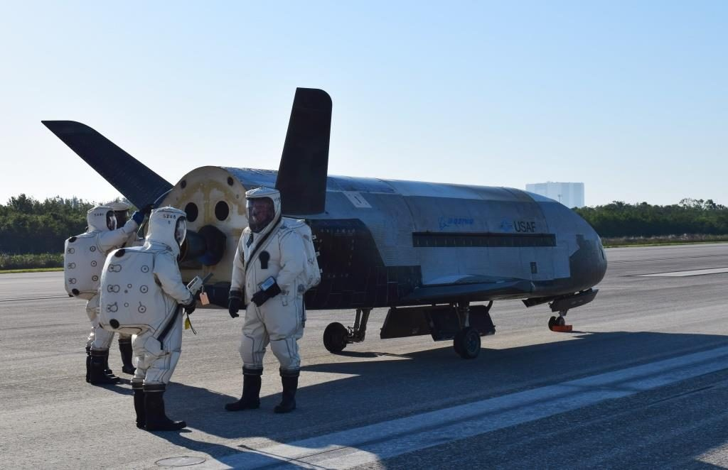 Managed by the Air Force Rapid Capabilities Office, the X-37B program is the newest and most advanced re-entry spacecraft that performs risk reduction, experimentation and concept of operations development for reusable space vehicle technologies (U.S. Air Force courtesy photo)