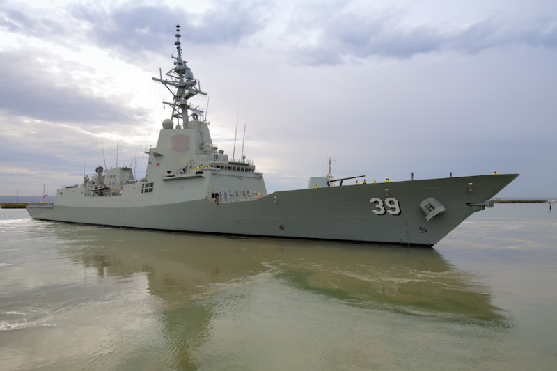 Defence accepts delivery of first Air Warfare Destroyer Hobart