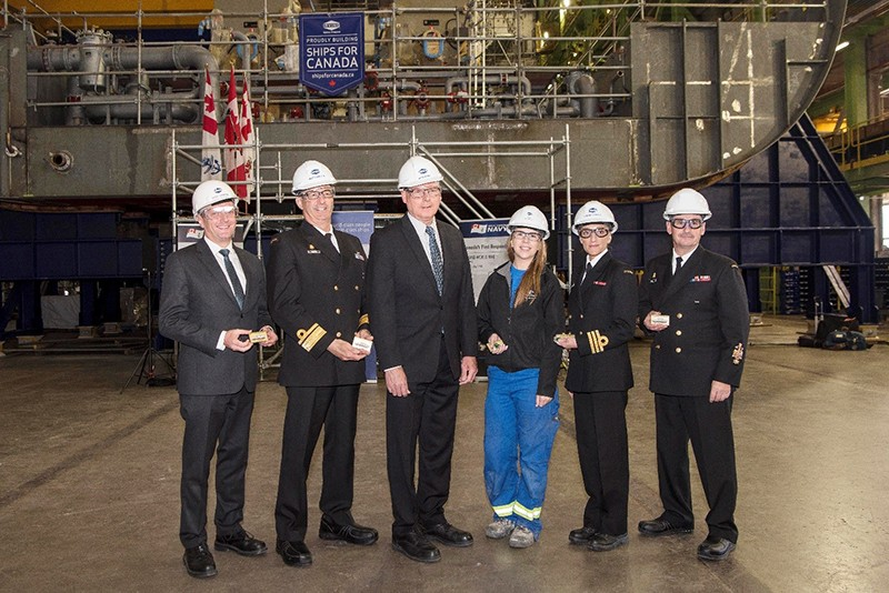 Keel-laying ceremony for HMCS Margaret Brooke marks a shipbuilding milestone