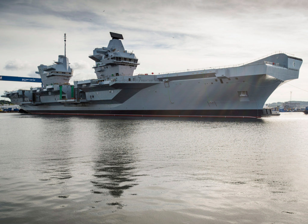 HMS Queen Elizabeth (R08) set to squeeze out of dockyard for the first time
