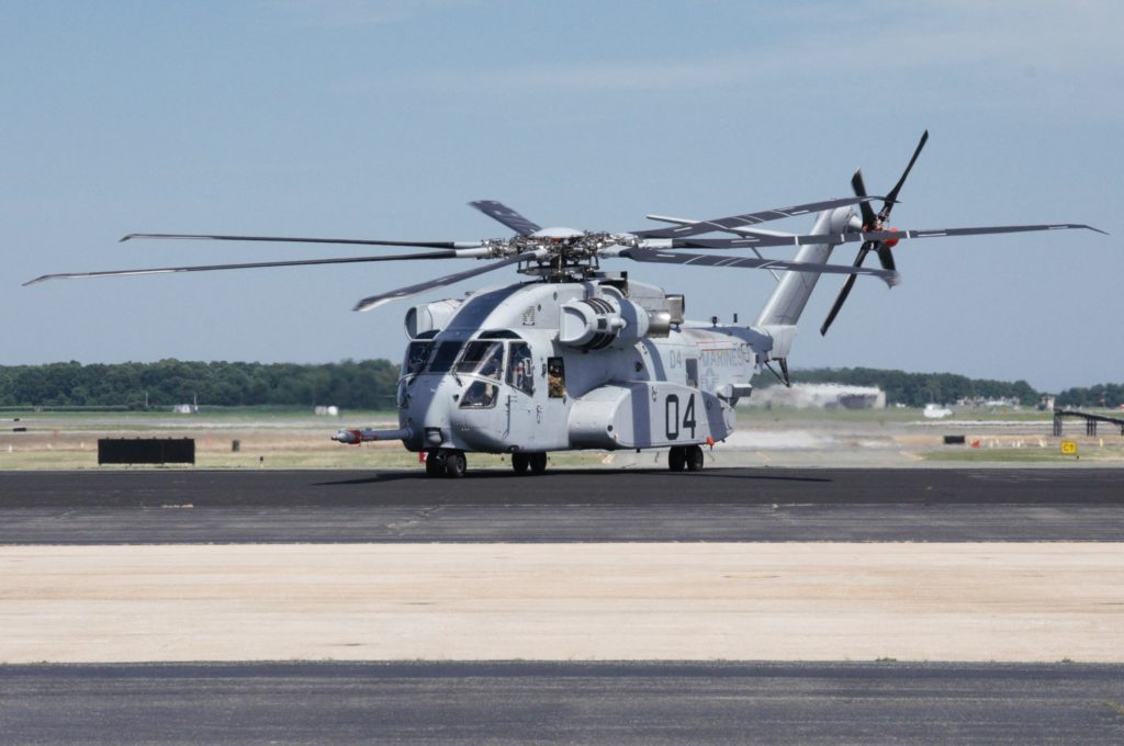 The CH-53K King Stallion arrives at Naval Air Station, Patuxent River on June 30, 2017 (Photo courtesy U.S. Navy)