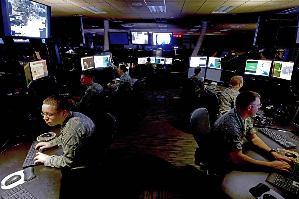 The Intelligence, Surveillance and Reconnaissance Division at the Combined Air Operations Center at Al Udeid Air Base, Qatar, provides a common threat and targeting picture that are key to planning and executing theater wide aerospace operations to meet the Combined Forces Air Component commander's objectives. They are also the means by which the effects of air and space operations are measured (Air Force photo)