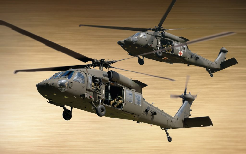 This image features the UH-60M Black Hawk and HH-60M MEDEVAC