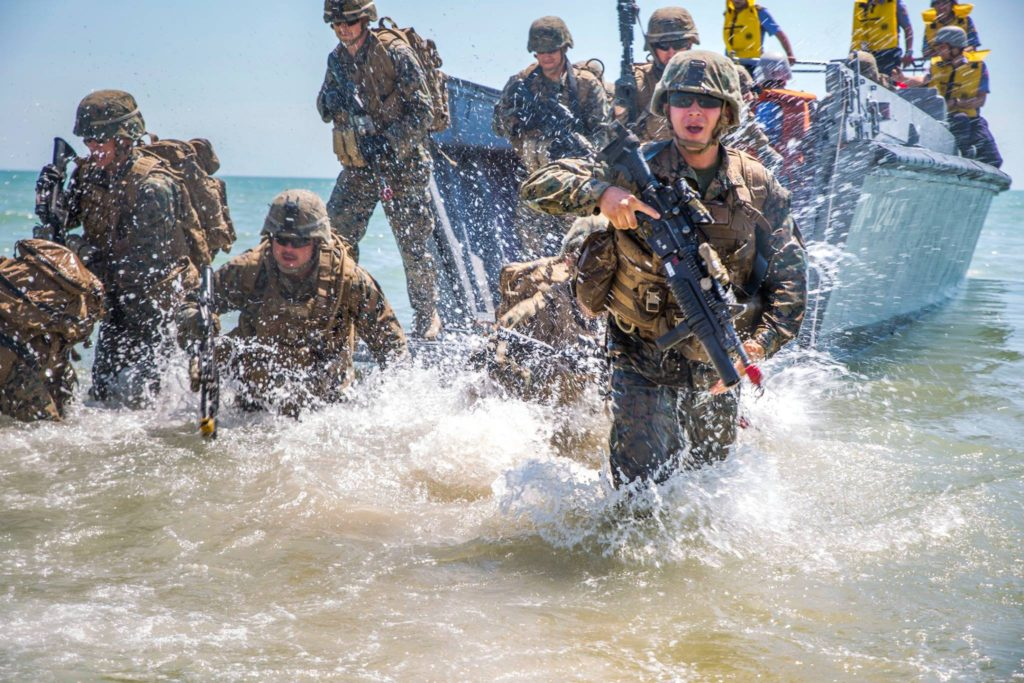 Marines in Ukraine for Exercise Sea Breeze had a different kind of beach day
