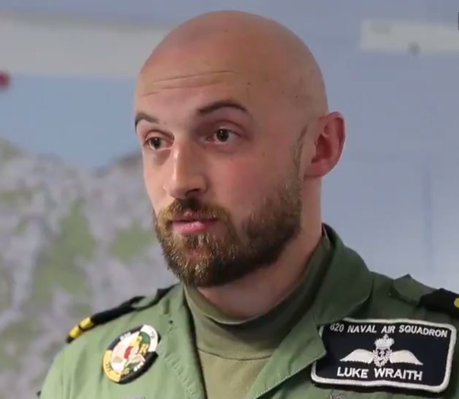 26-year-old pilot Lieutenant Luke Wraith from Yorkshire