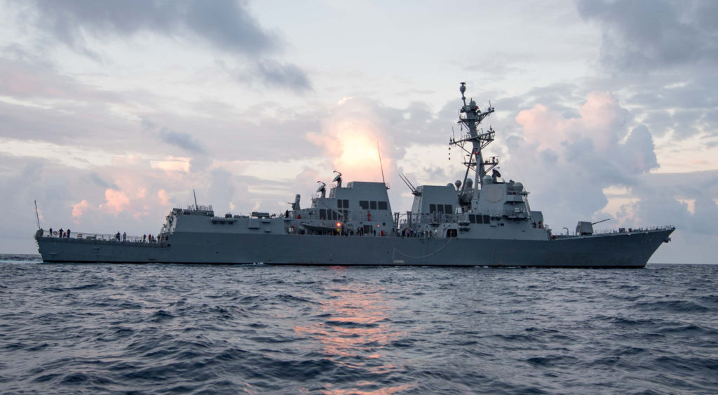 Ingalls Shipbuilding completed builder's sea trials for USS Ralph Johnson (DDG-114). The Arleigh Burke (DDG-51) destroyer spent more than three days in the Gulf of Mexico testing the ship's main propulsion, combat and other ship systems (HII photo)