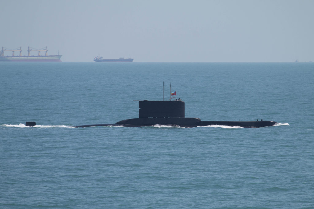 The Turkish Navy submarine TCG Batiray (S-349)