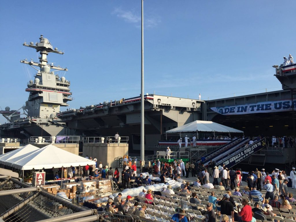 Navy commissioned new first-in-class aircraft carrier Gerald R. Ford