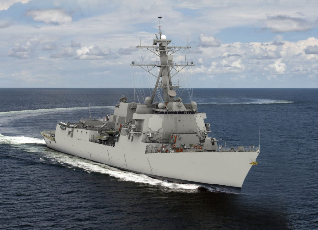 HII's Ingalls Shipbuilding division will build USS Jack H. Lucas (DDG-125), the first «Flight III» ship in the U.S. Navy's Arleigh Burke class of destroyers (HII rendering)