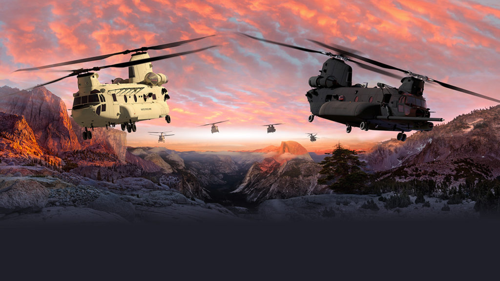 Boeing will build and test three U.S. Army CH-47F Block II Chinook helicopters as part of a modernization effort that will likely bring another two decades of work to the company's Philadelphia site (Boeing illustration)