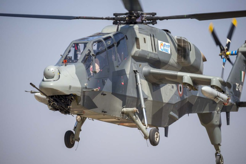 Light Combat Helicopter designed and developed by Hindustan Aeronautics. Beyond the current initial order, the Indian Army has committed to ordering 114 LCHs, and the Indian Air Force another 65 (HAL photo)