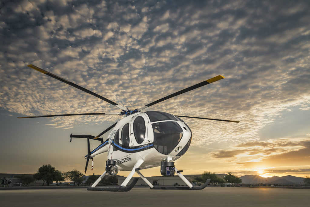 MDHI's new MD-6XX concept helicopter is based on a stretched Hughes 500 airframe, and is currently in proof-of-concept development for operations including scout attack and special operations, utility and VIP transport (MDHI photo)