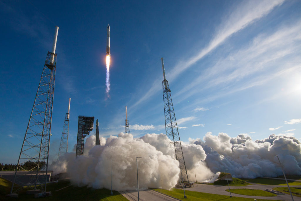 The TDRSS is capable of providing near continuous high bandwidth (S, Ku and Ka band) telecommunications services for Low Earth orbiting spacecraft (including the International Space Station) and expendable launch vehicles like ULA's Atlas V and Delta IV rockets that use the network to receive and distribute telemetry data during flight