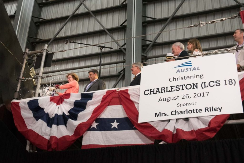 Navy christened Littoral Combat Ship Charleston