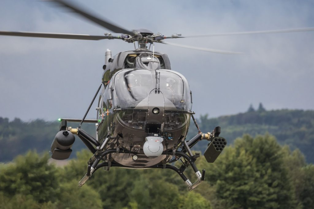 H145M completes first flight with HForce weapon system