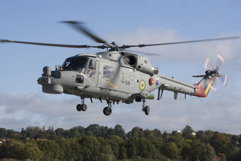 Leonardo Helicopters has flown the first of eight Brazilian Navy Super Lynx Mk21A helicopters to undergo a major upgrade; the first three upgraded aircraft will be delivered in 2018 (LH photo)