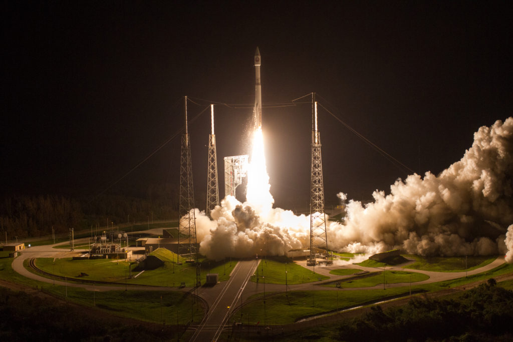 An Atlas V rocket lifts off from Space Launch Complex-41 with the National Reconnaissance Office's NROL-52 payload (United Launch Alliance/Jeff Spotts)