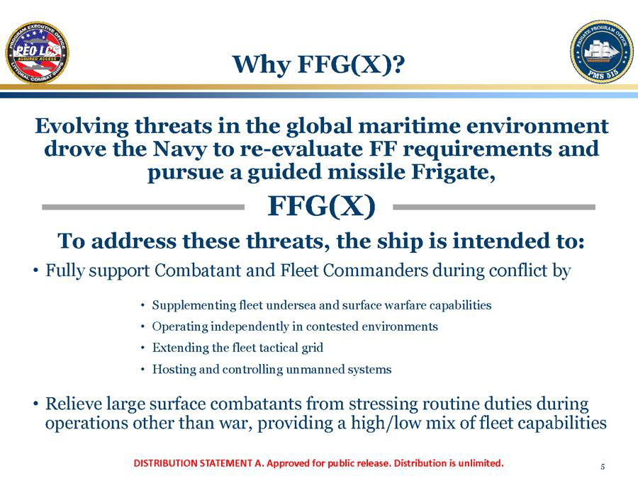 Navy Frigate (FFG[X]) Program
