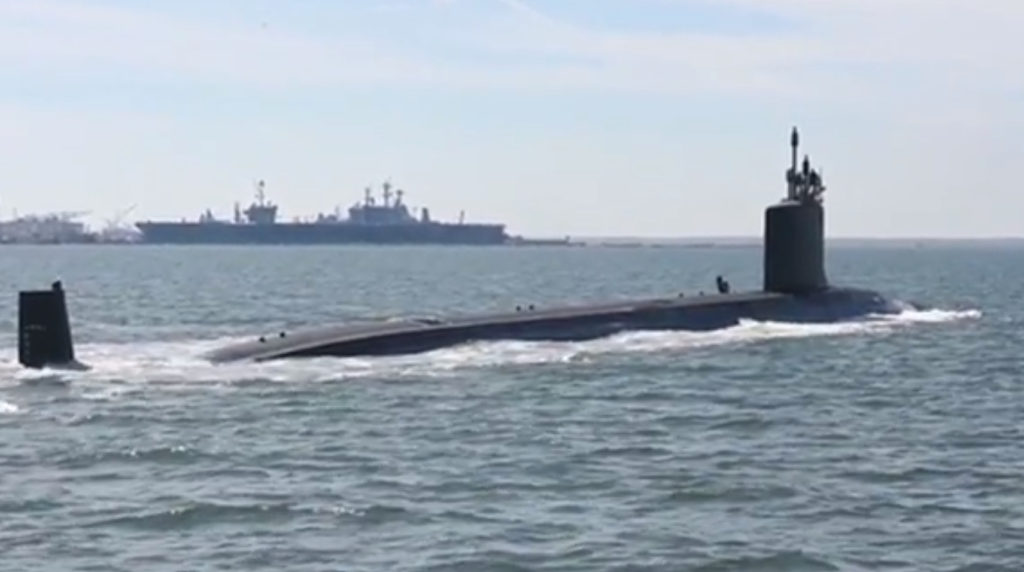 USS Washington Brought to Life, Commissioned at Naval Station Norfolk