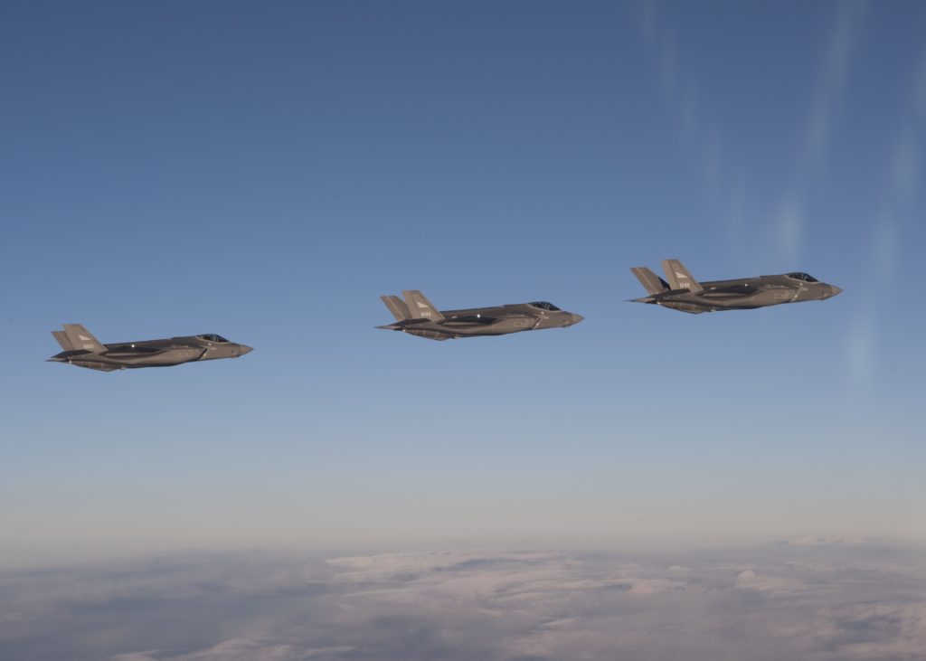 3 F-35s entering Norwegian air space (Credit: Helge Hopen, Norwegian Armed Forces)