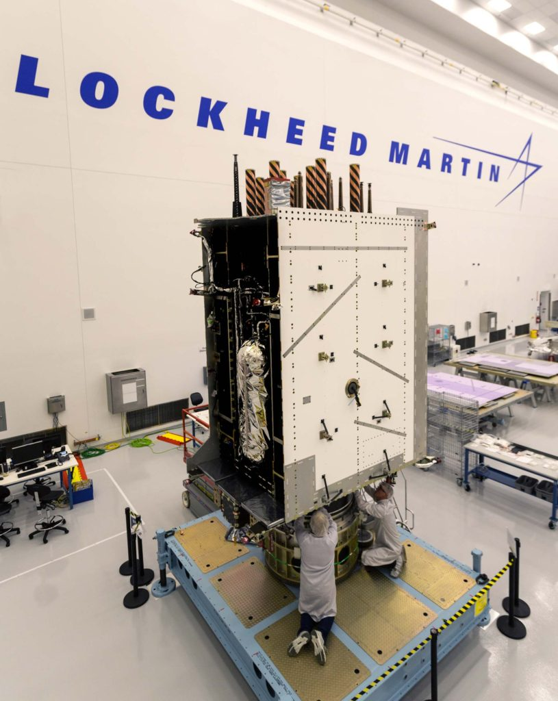 The U.S. Air Force's third GPS III satellite, GPS III SV03, is now fully integrated and ready to begin environmental tests. Lockheed Martin is in full production on ten contracted GPS III satellites at its GPS III Processing Facility near Denver
