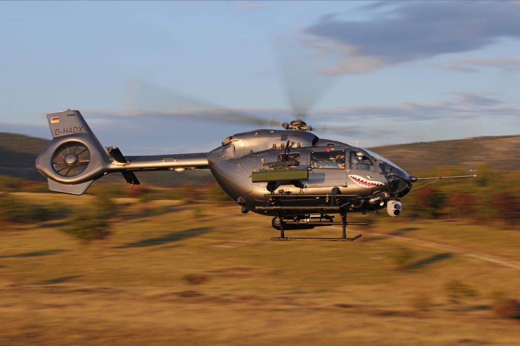 Airbus Helicopters has recently completed a ballistic development test of an HForce weapon system on a H145M on Pápa Airbase in Hungary