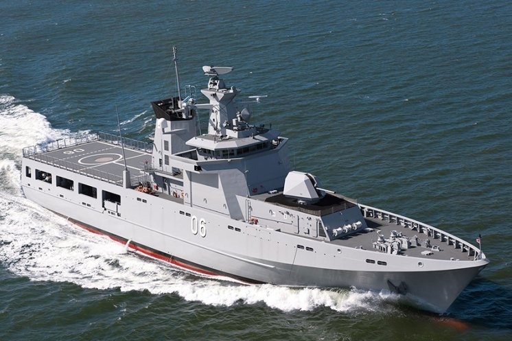 An Offshore Patrol Vessel, designed by Lürssen