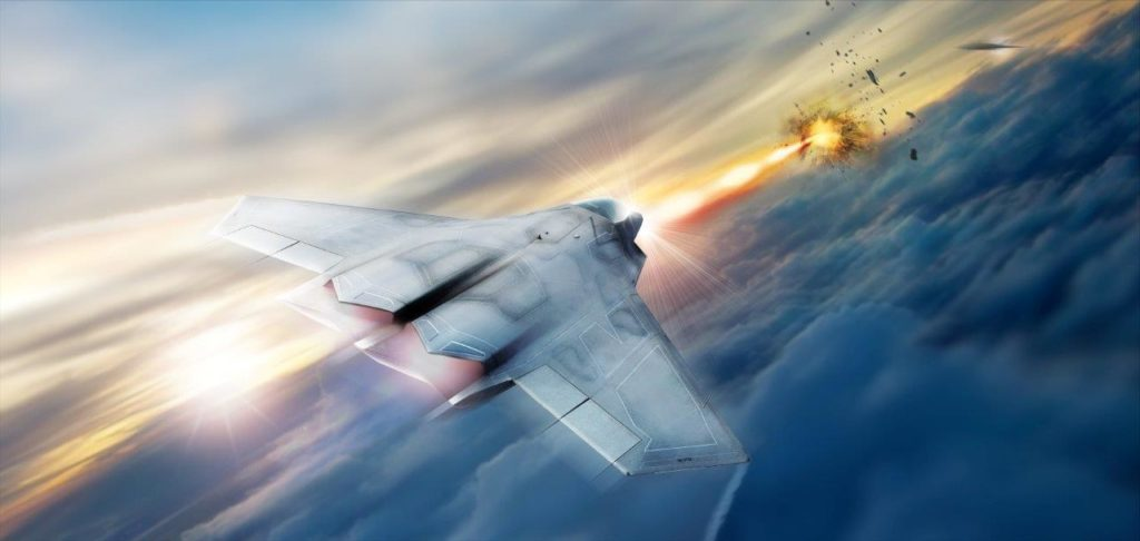 Lockheed Martin is helping the Air Force Research Lab develop and mature high energy laser weapon systems, including the high energy laser pictured in this rendering (Credit: Air Force Research Lab)