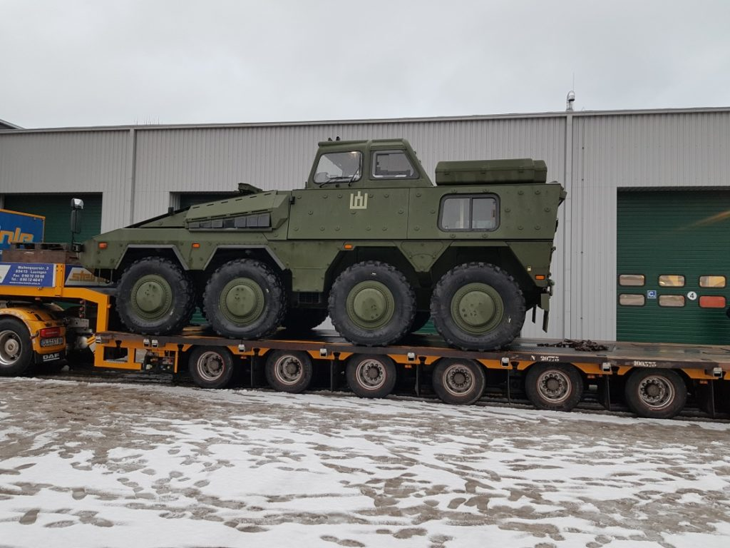 Vilkas Infantry Fighting vehicles delivered for training