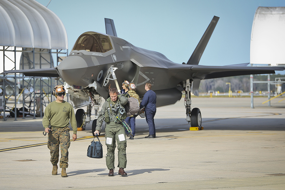 The UK has taken delivery of its 14th F-35B Lightning II which flew into Beaufort, South Carolina last week (Crown copyright)