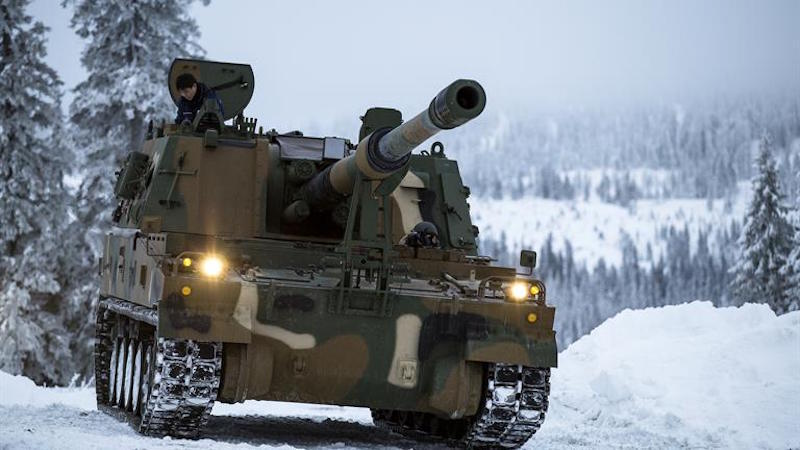 After Turkey and Finland, Norway is the third European country to select South Korea's K9 Thunder 155-mm self-propelled guns to re-equip its artillery. It has ordered 24 vehicles for $226 million, with an option on 24 more (Norway MoD photo)