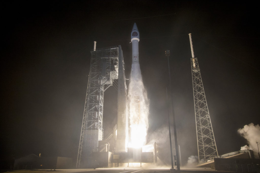 An Atlas V rocket carrying the SBIRS GEO Flight 4 mission for the U.S. Air Force lifts off from Space Launch Complex-41 (ULA/Jeff Spotts)