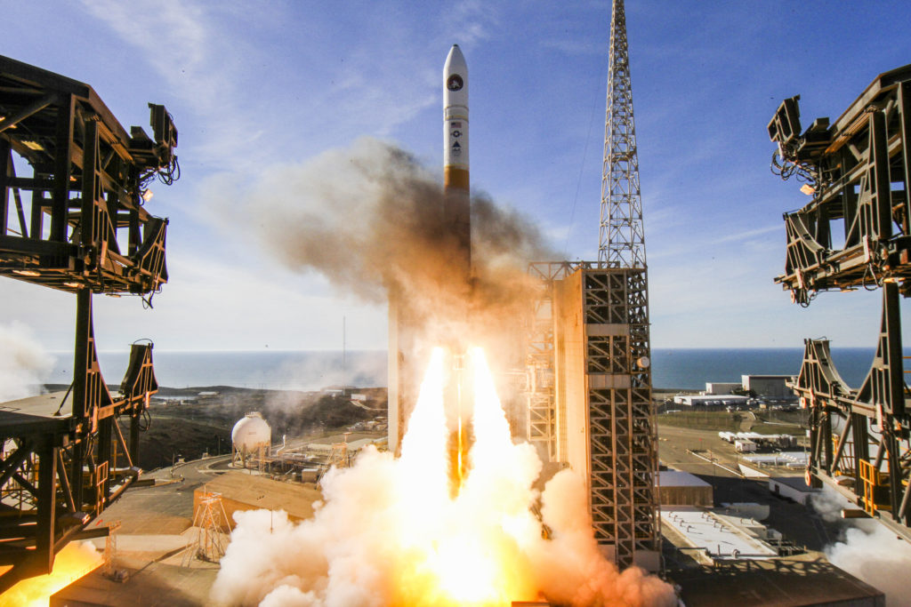 A United Launch Alliance (ULA) Delta IV rocket carrying the NROL-47 mission lifts off from Space Launch Complex-6