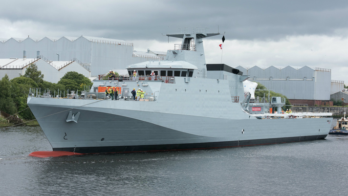 Defence Minister announces acceptance of Royal Navy's new Offshore Patrol Vessel HMS Forth (P222)