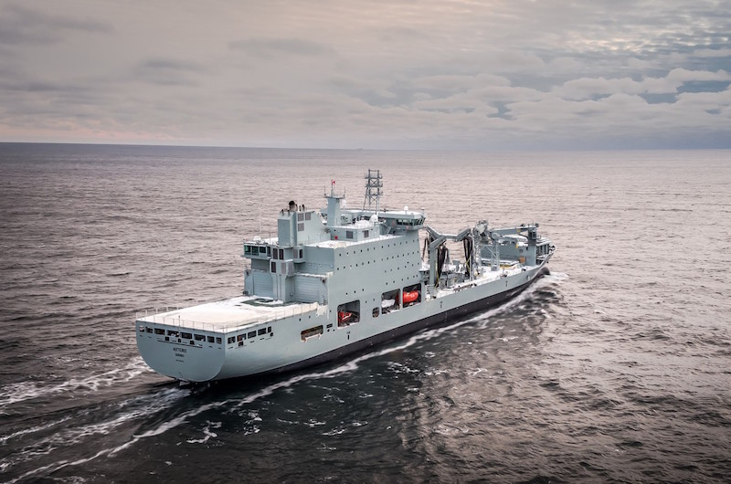 Asterix is the first new naval support ship to enter service with the RCN in over 50 years, and is also the first large naval platform to be delivered from a Canadian shipyard in over 20 years (Davie photo)