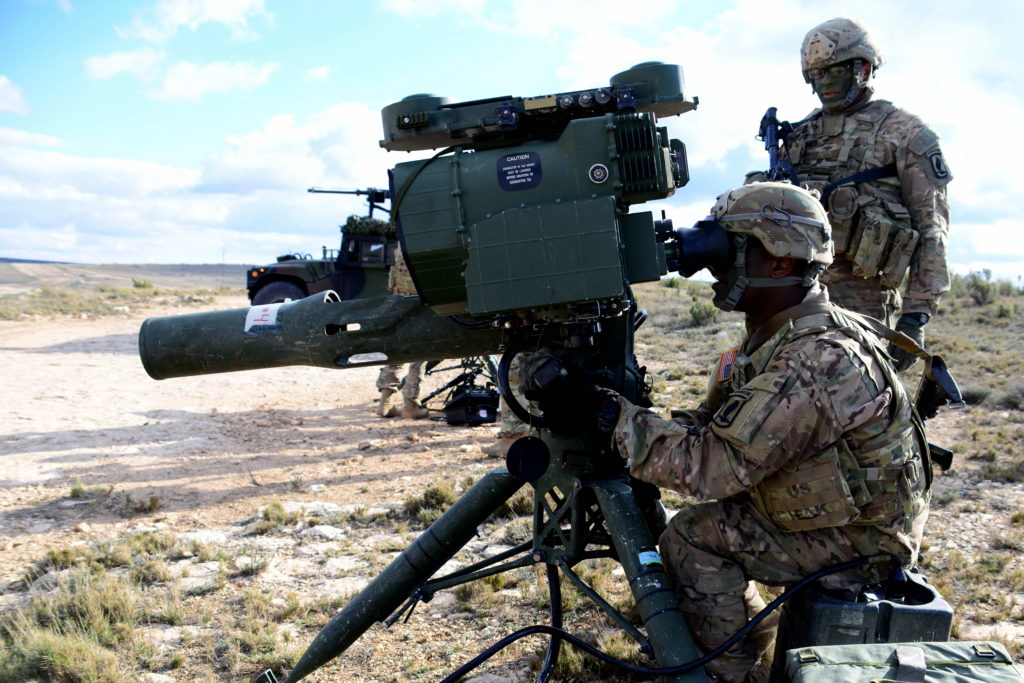 U.S. Army paratroopers from the 1st Battalion, 503rd Infantry Regiment, 173rd Airborne Brigade, shoot with an M41 TOW Improved Target Acquisition System, February 25, 2016, during Exercise Sky Soldier 16, at Chinchilla training area in Spain. The ITAS versatile missile system continues to operate using lithium-ion battery chemistry developed by a team of engineers from CERDEC, AMCOM and industry (Photo Credit: U.S. Army photo by Elena Baladelli)